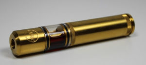 e-cigarette in golden color